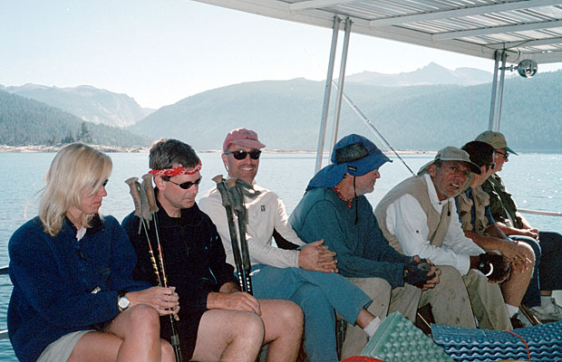 On the Edison Ferry with fellow JMT hikers