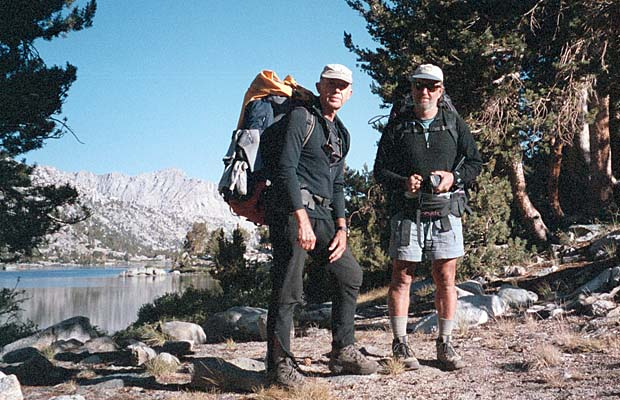 Peter and Jim leaving Rae Lakes for Bubbs Creek