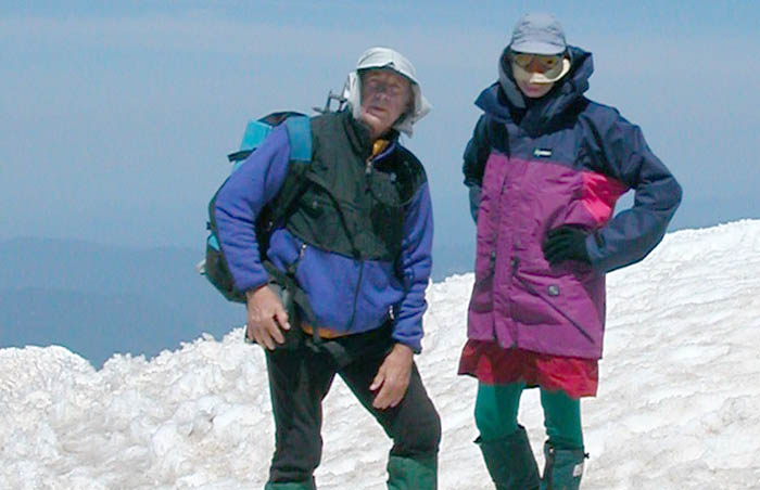 Peter and Ken on the summit of Mt. Hood ...11,239'