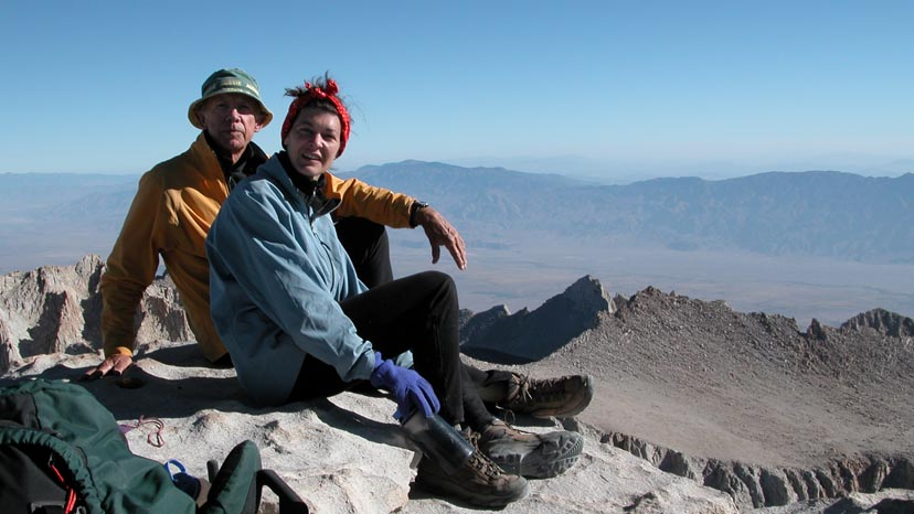On the summit of Mt. Whitney, 14,495', and the southern end of the JMT