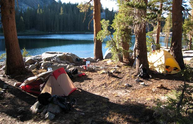 Our secluded camp at Laura Lake ... no people, only bears!