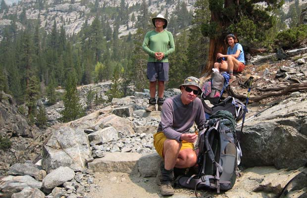 On the rocky trail above the South Fork of the San Joaquin River