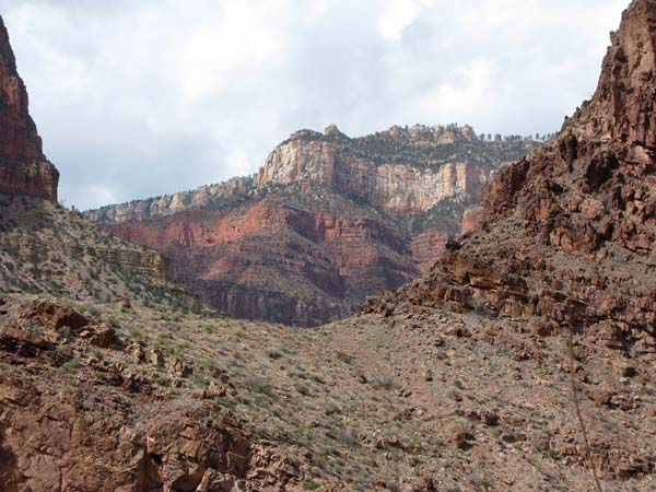 Looking up to Bright Angel Point, the location of the North Rim Visitor Center.