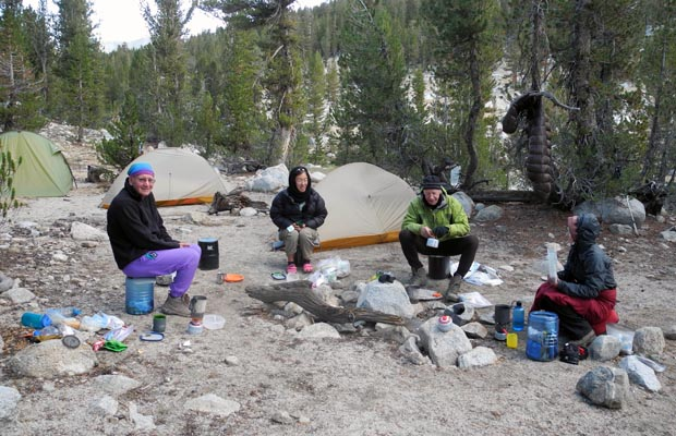 Another cold camp between Mather and Pinchot Pass