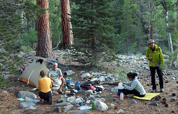 Our isolated & wonderful campsite on the South Fork of the San Joaquin River
