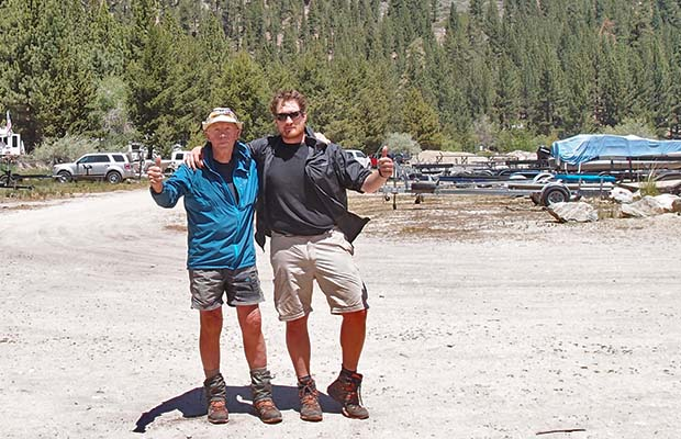 Peter and Johannes at the Mono Village Resort, near Twin Lakes - June 2, 2014.