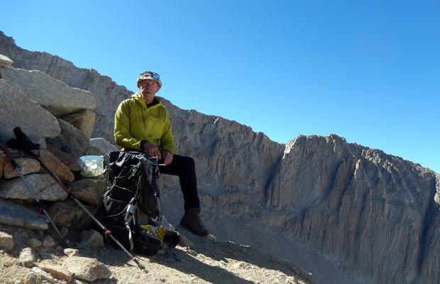 Resting on the way to the summit of Whitney, at about 13,000'