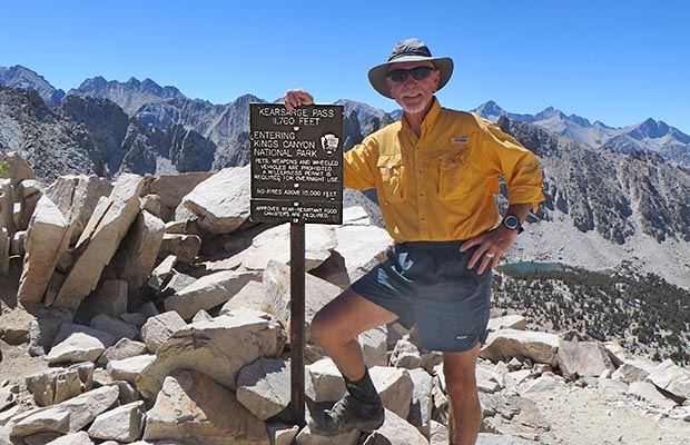 Bob on the summit of Kearsarge Pass
