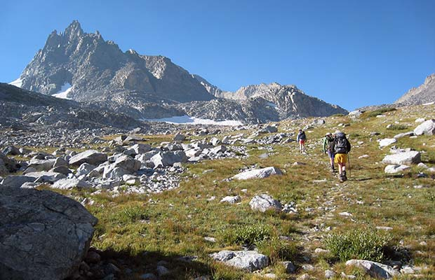 The route up to North Glacier Pass and Catherine Lake