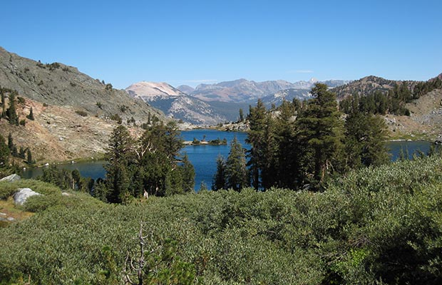 Minaret Lake on the High Route down from Lake Cecile.