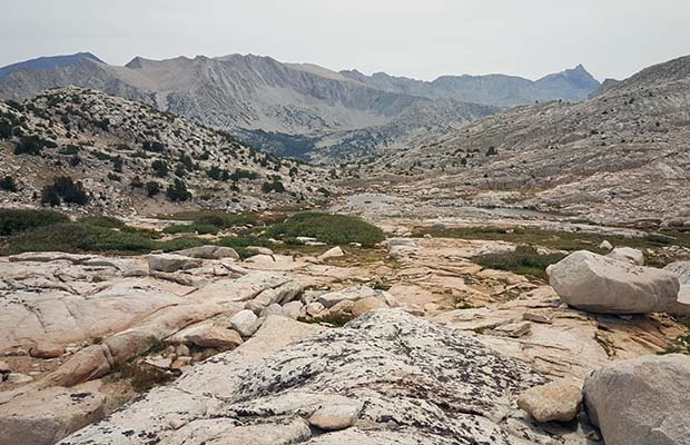 Looking south from Granite Park to Pine Creek Pass
