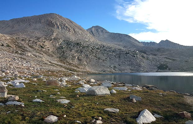 Our campsite at the western end of Lake Italy