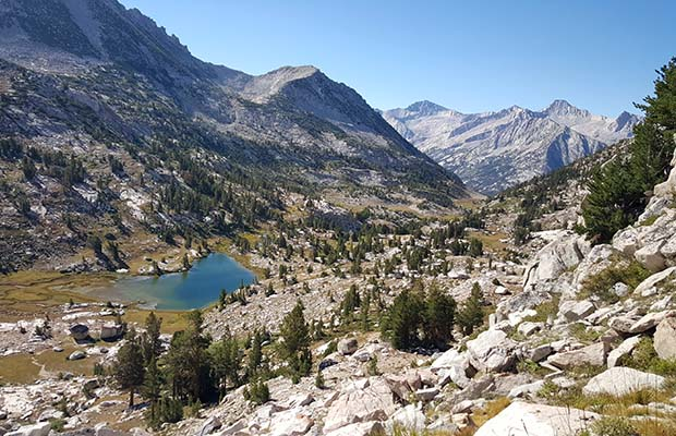 Half way up the climb from Laurel Lake to Bighorn Pass