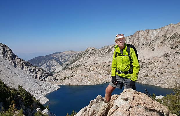 Peter on Bighorn Pass on the High Route