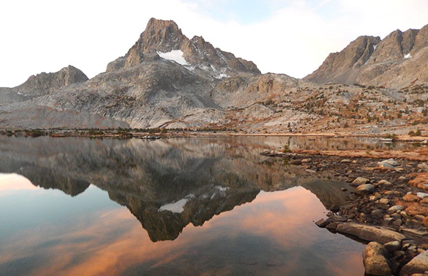 Banner Peak from the west end of Thousand Island Lake - close to the High Route