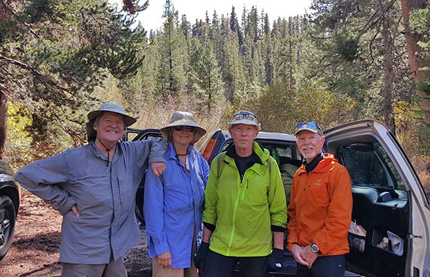 With our good Samaritans, Paul and Nancy, who helped us get back to our car at Silver Lake