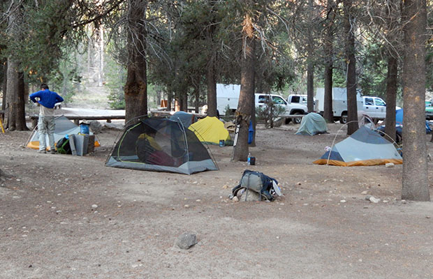 The hiker campground at VVR