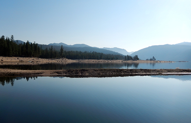 Edison Lake in the early morning, waiting for our ride back to the JMT from VVR