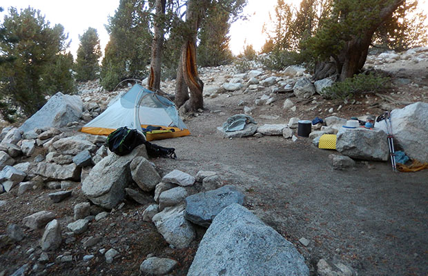 Mike and Self camped at the Forester High Camp [11,200']