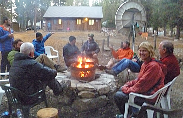 Fireside drinking and stimulating conversation at VVR