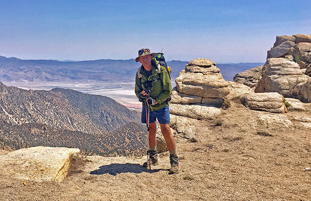 Standing on the edge of the 6,000' drop down to Owens Valley
