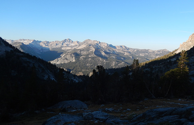 View of the Silver Divide to the southwest from the Duck Creek Outlet.