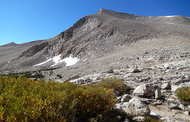 Cirque Peak as seen from High Lake on the climb to New Army Pass.