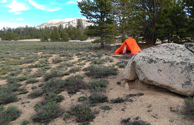 My third night's camp at Dry Creek Meadow.