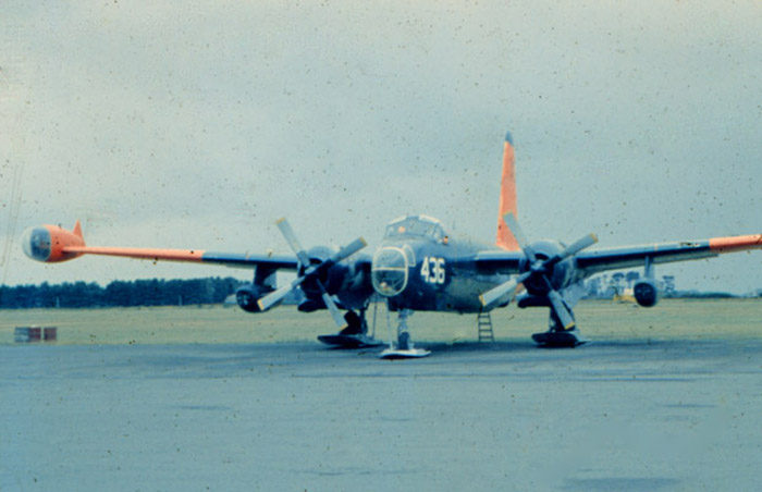 "RNZAF Base Wigram 1957: A USN VX6 Lockheed Neptune P2V-7LP. ""2 turning, 2 burning"""