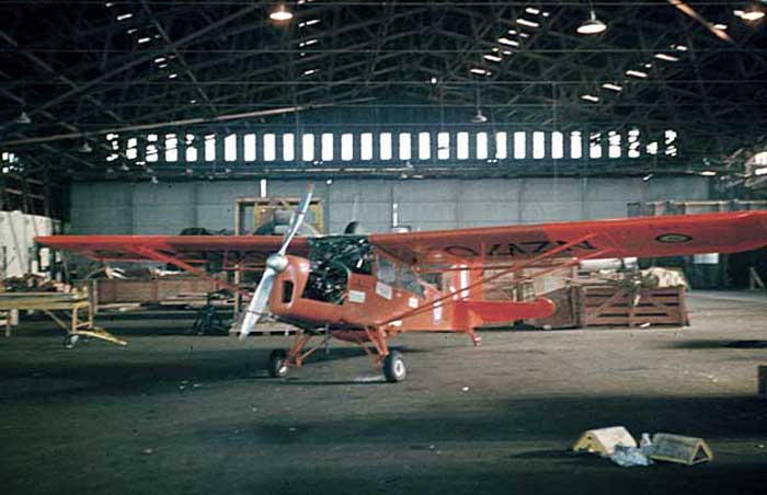RNZAF Base Wigram 1959: The Antarctic Auster Mk.7, NZ1707 - with metal prop & cartridge starter!