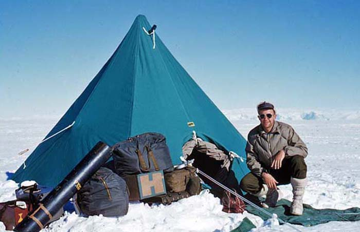 Me at home in our semi-permanent camp at the Beardmore Base.