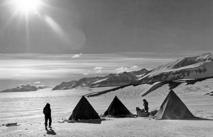 Our camp on the Lady Newnes Ice Shelf