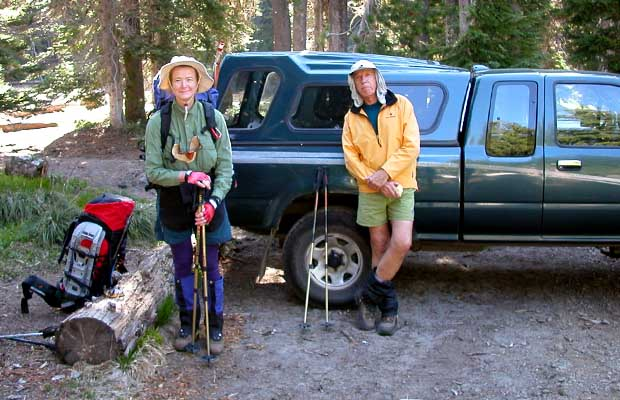 2003: At the Cold Springs trailhead with Lee Sampson from Australia.