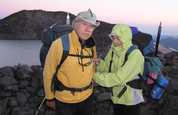 2005: Final preparation before leaving on the North Cleaver summit climb.