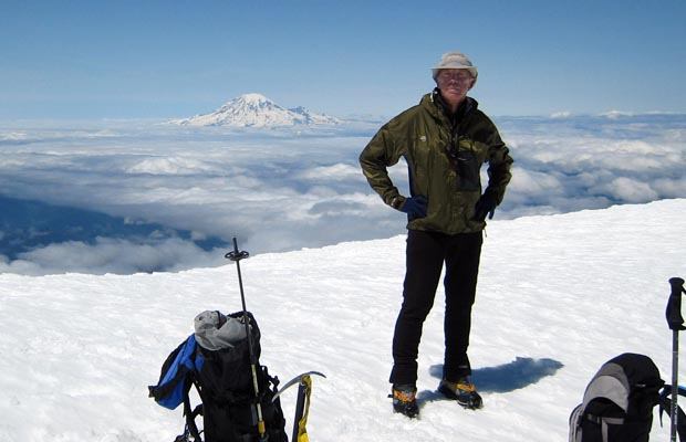 2007: On the summit of Adams during the first of three ascents in the summer of 2007