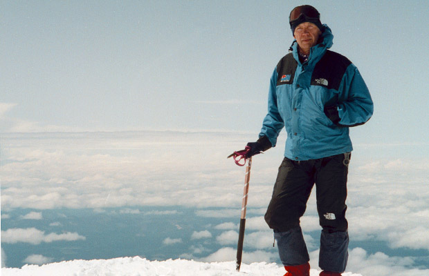 1992:  Standing on the summit of Adams for the second time
