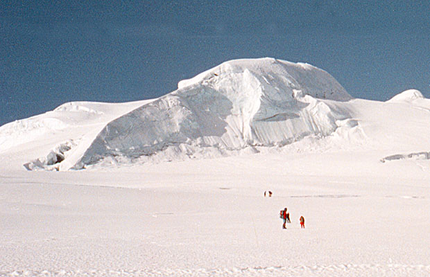 Setting off from High Camp for the summit of Mera Peak.