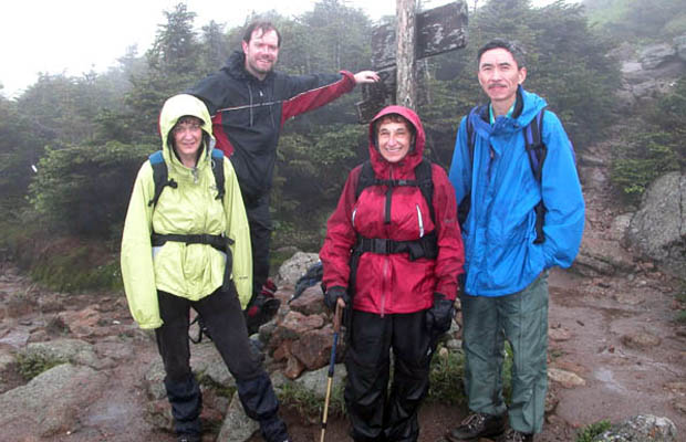 2005 Traverse group ... on the Crawford Path in the rain.