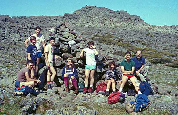 In 1985, our Traverse group at the Thunderbolt Junction cairn