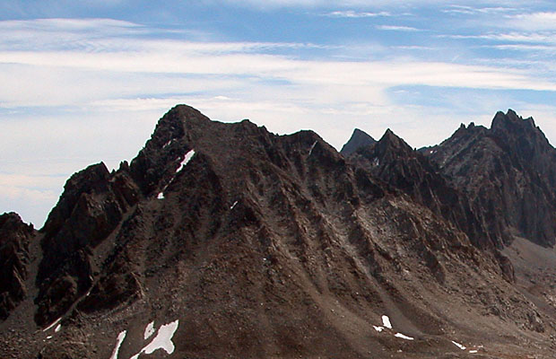 The western face of Mt Agassiz ... our route began at the lower left snowfield