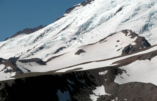 The Inter Glacier that provides access to Camp Schurman