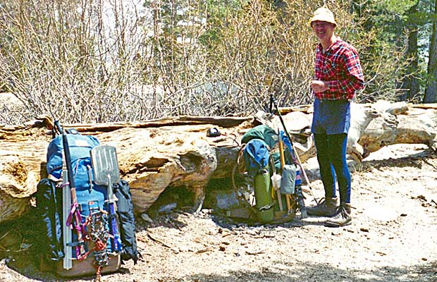 May 1990: Mal Hill with me on the Whitney Portal Trail