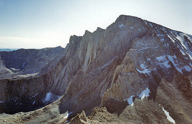 October 1991: The north face of Whitney as seen from Mt. Russell.