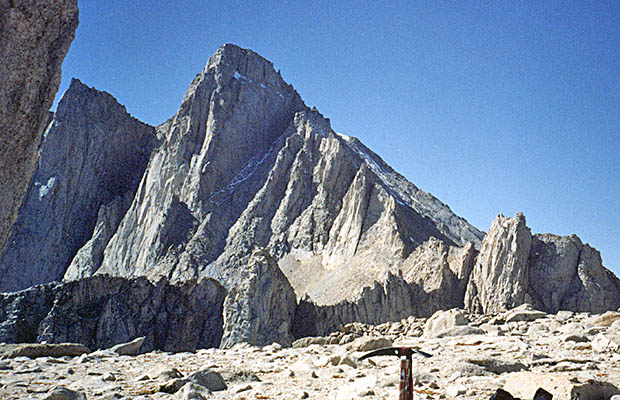 October 1991: Whitney seen from the plateau between Mt. Russell and Mt. Carillon