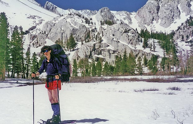 April-May 1996: Lucy near Outpost Camp, on our way down to Whitney Portal.